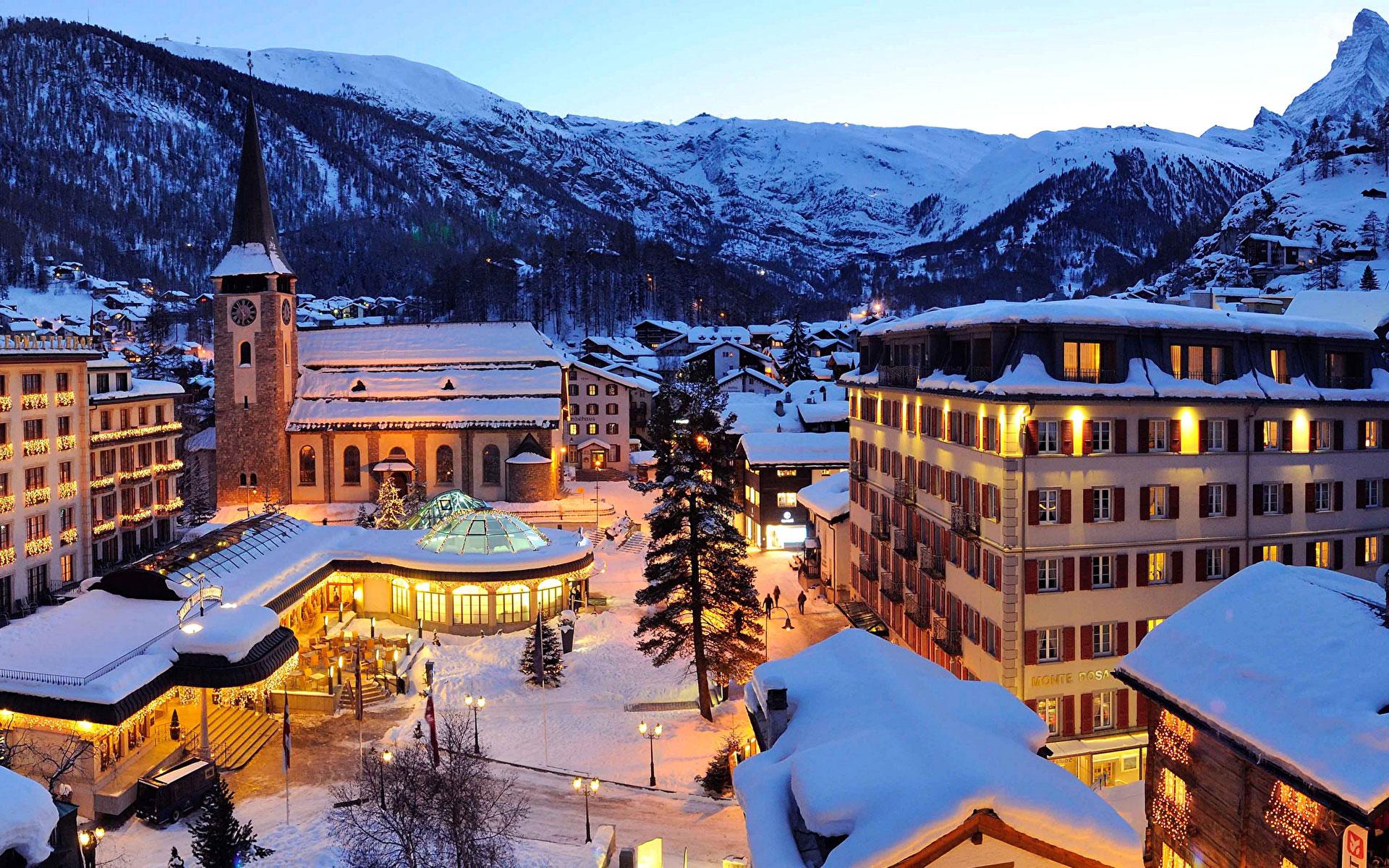 سوئیس در شب