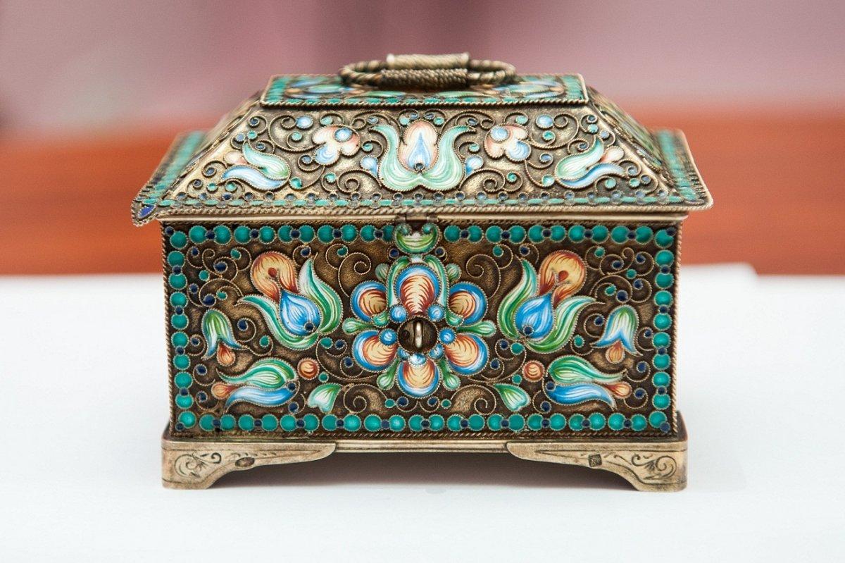 جعبه جواهرات ساخته شده از صدف