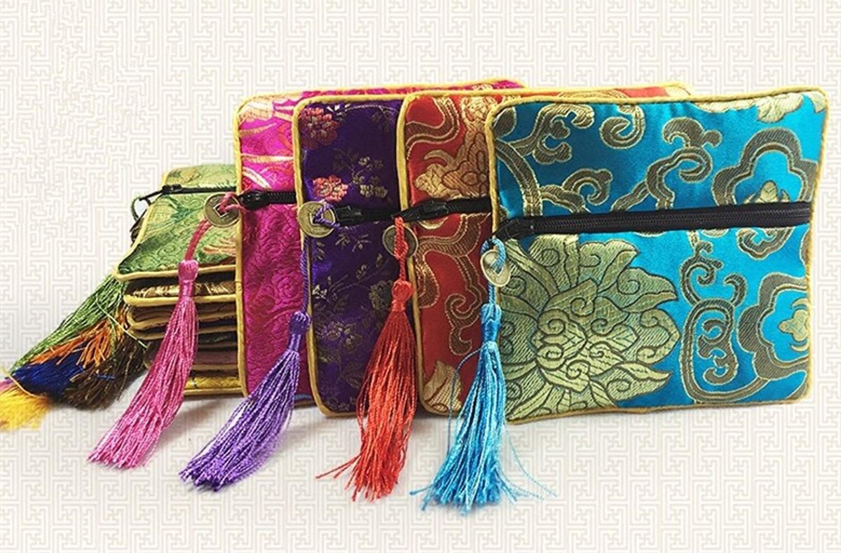 کیسه های سنتی ابریشمی برای سکه