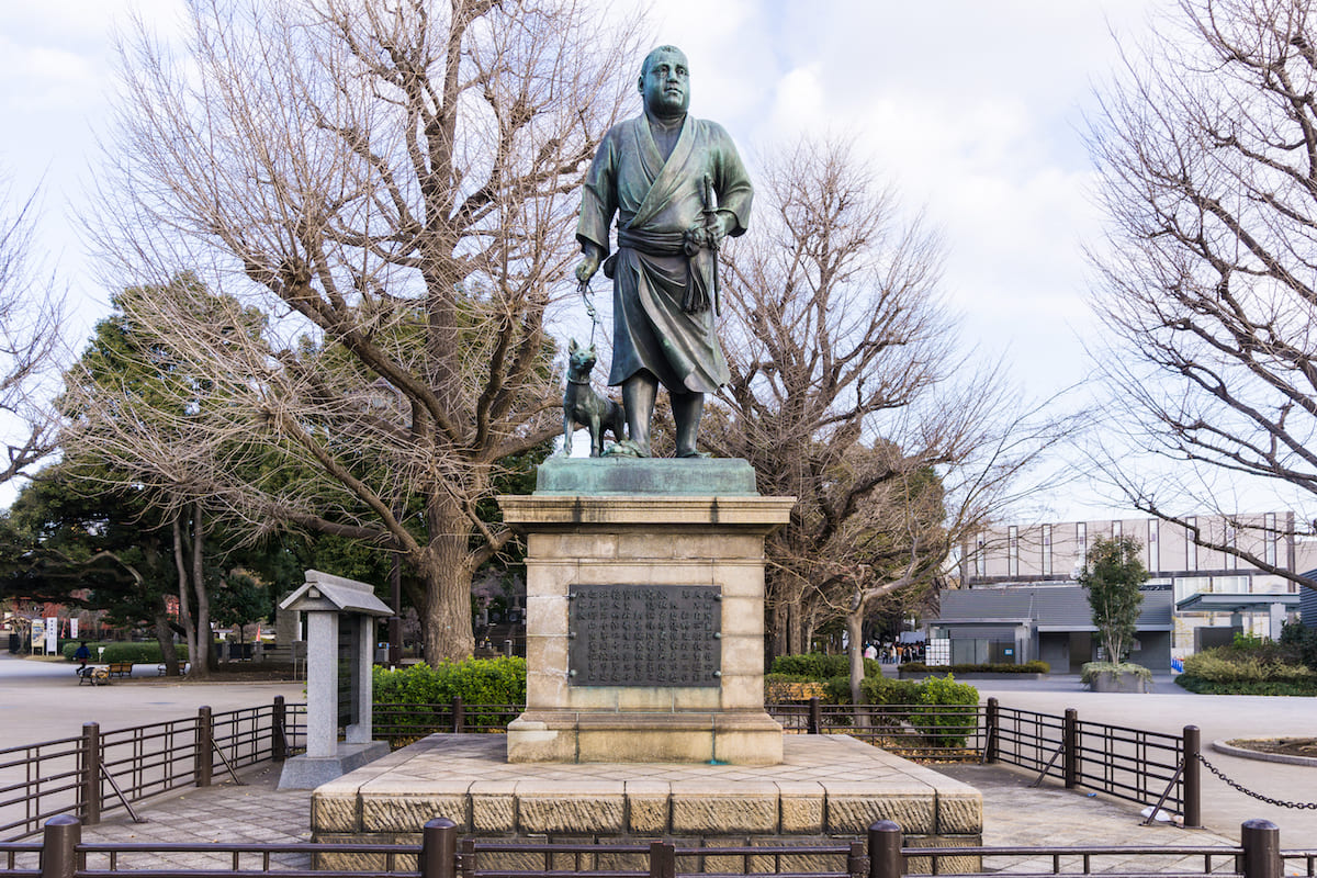 مجسمه ی یکی از ژنرال های نبرد اوئنو (سایگو تاکاموری)