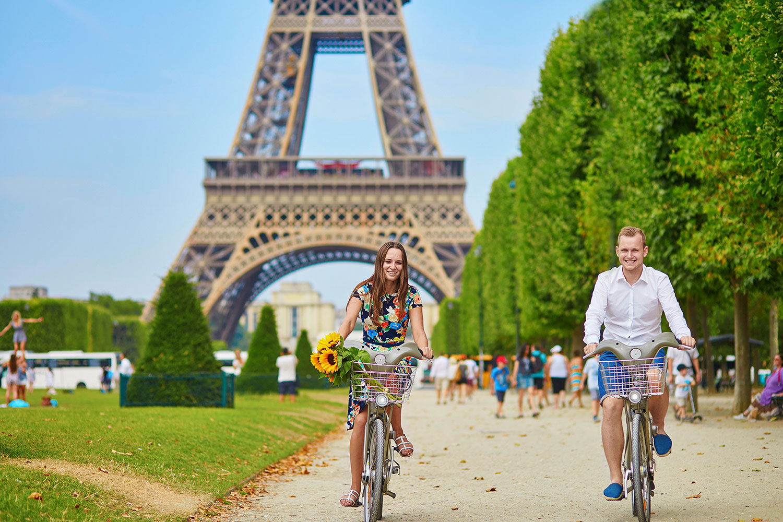 دوچرخه  در پاریس